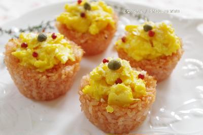 カップ型ケチャップライスにトロトロ卵「オムライスレシピ コンテスト」