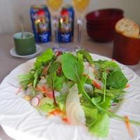 お正月に昆布〆鯛のごちそうサラダ・柚子こしょうドレッシング