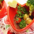 いちご寒天のチョコット野菜畑♡