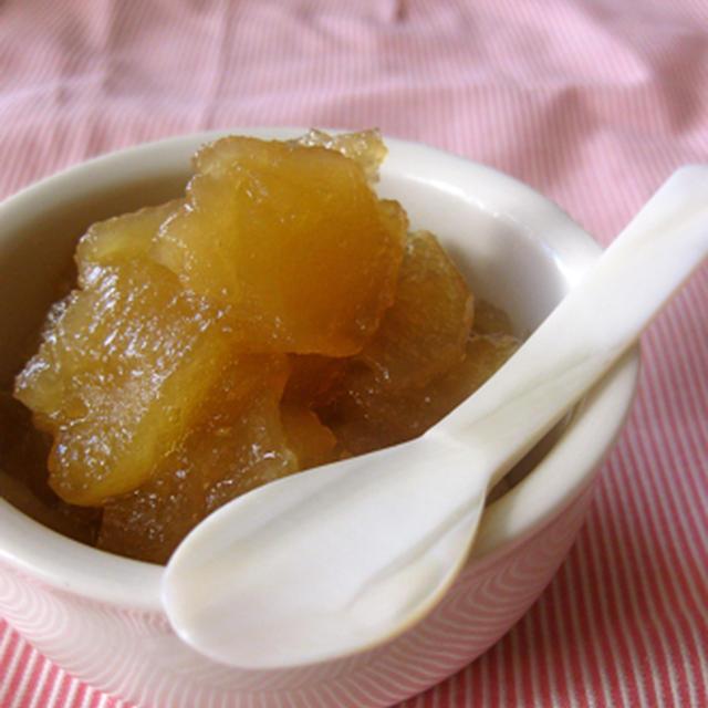 優しい甘さ、蜂蜜リンゴジャム。