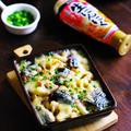 にんにくめんつゆde焼き秋刀魚とれんこんのレンチン!チーズ蒸し