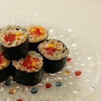 夏の玄米寿司ロール