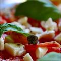 トマトのカルパッチョ風カプレーゼ