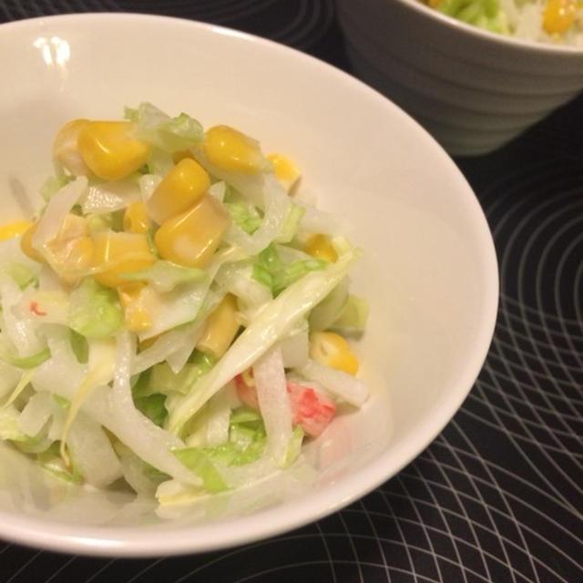 白菜とカニカマのコールスローサラダ