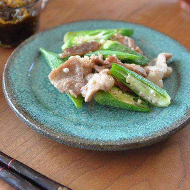 オクラと豚肉のナンプラー炒め