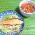 BBQレシピ☆鮭のチャンチャン焼き☆