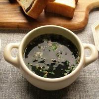 リケンの『ワカメスープ』にお豆をちょい足ししても美味しいね♪