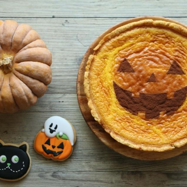 かぼちゃのチーズケーキ ~ハロウィン仕立て~