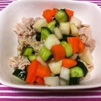 豚の冷しゃぶ コロコロ野菜のポン酢ドレ