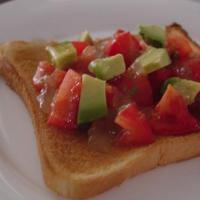 トマトとアボカドのトースト☆ジュレ添え
