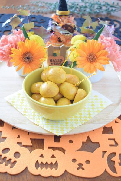 かぼちゃの簡単ポンデケージョ WEEKEND FLOWER ハロウィンレシピ