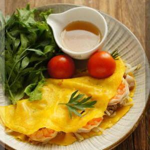 定番アジア飯にトライ♪ベトナム風お好み焼き「バインセオ」を作ってみない?