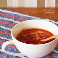 即席コロコロ野菜 の トマトスープ。
