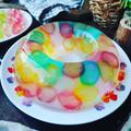 夏休みのおやつに❤️レインボーわらび餅を使って♪ひんやりもちもち虹色わらび餅ゼリー❤️