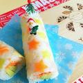 クリスマスロール♪デコ巻き寿司♪