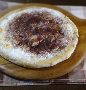 【レシピ】ティラミス風 マシュマロのチョコレートピザ