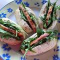 ミニフランスパンとポークハムのサンド by CatherineSさん