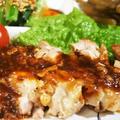 ■晩ご飯【チキンステーキ ガーリックハニー味噌ソースで絶品♪】
