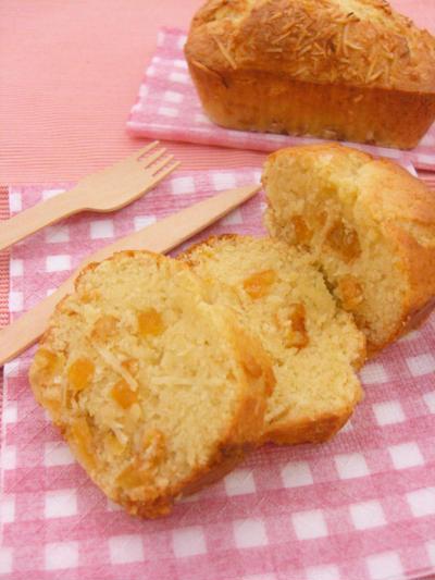 簡単☆パウンドケーキ オレンジココナッツ