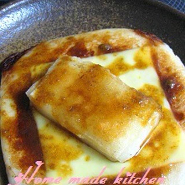 余った餅でアレンジレシピ♪『はんぺんと餅のチーズ-焼き~柚子胡椒風味~』