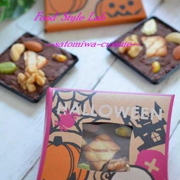 ナッツとクッキーがゴロゴロ嬉しい♡パレットチョコ!ハロウィンケースに入れて☆