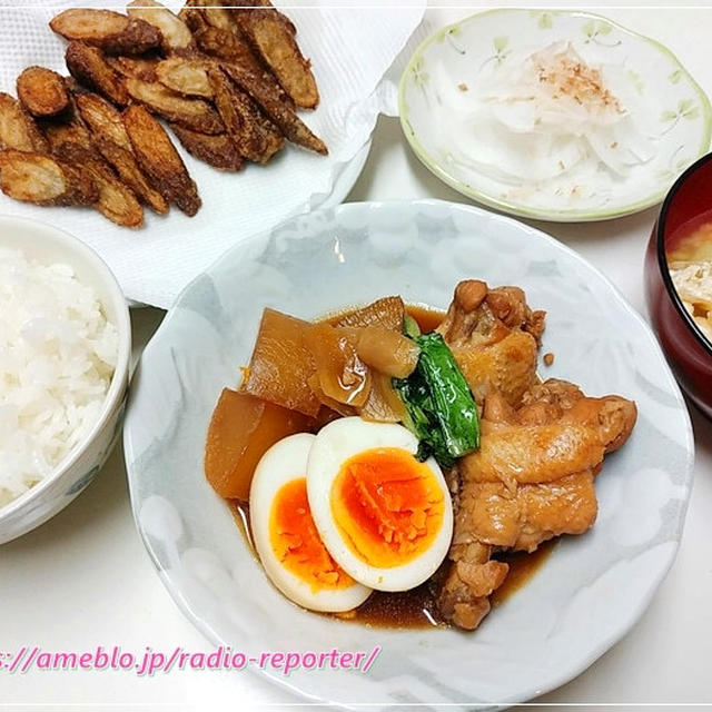 鶏手羽元と卵のポン酢煮、クラブハウスサンド☆お取り寄せ「太陽卵」消費週間♪おうちごはん