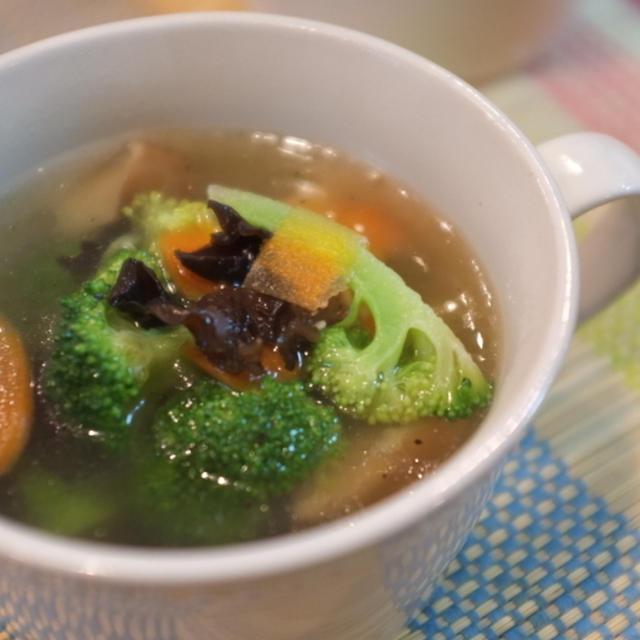 マイごはんに紹介されました!『ブロッコリーときくらげの中華スープ♪』