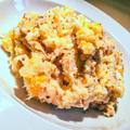 半熟卵とツナのポテトサラダ