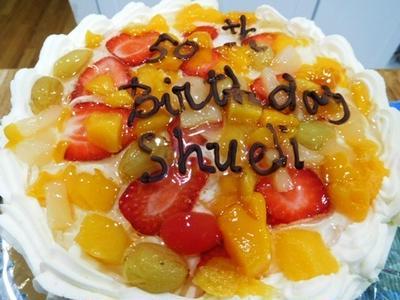 50歳の誕生日のお祝いディナー