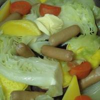 蒸し野菜・発酵バター入りマーガリン添え