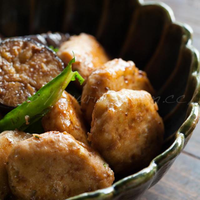 鶏つくねと茄子の万能味噌炒焼き