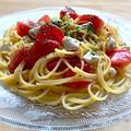 ドレッシングで簡単☆トマトとクリームチーズの冷製オイルパスタ