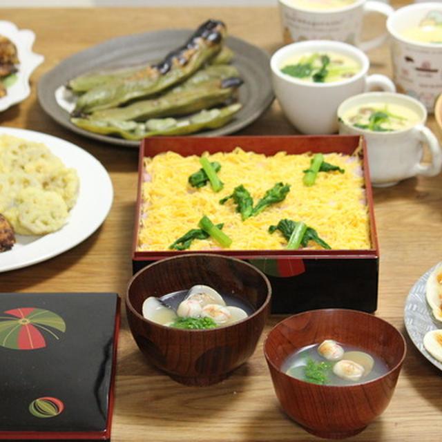 ひな祭りのちらし寿司献立