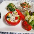 ホタテとカラフル野菜のトマトカップサラダ by strawberry-macaronさん