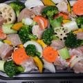 簡単料理!鶏むね肉と彩り野菜のグリル焼き!!