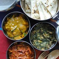 3種のキーマカレーと簡単チャパティ