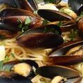 野郎飯流・ムール貝のシンプルなスパゲッティ