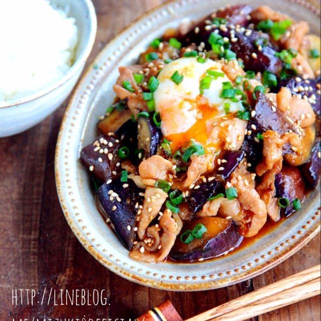 ♡超簡単モテレシピ♡豚肉と茄子のスタミナ炒め♡【#時短#節約#夏野菜】