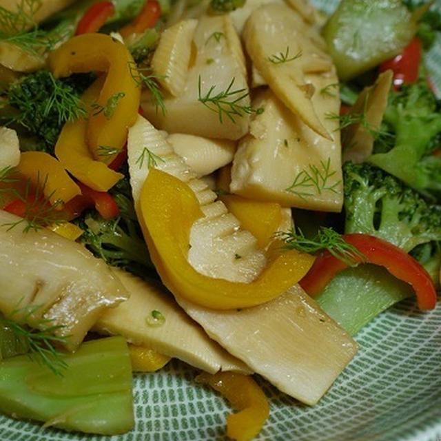 フェンネルと筍&彩り野菜のオイスター炒め