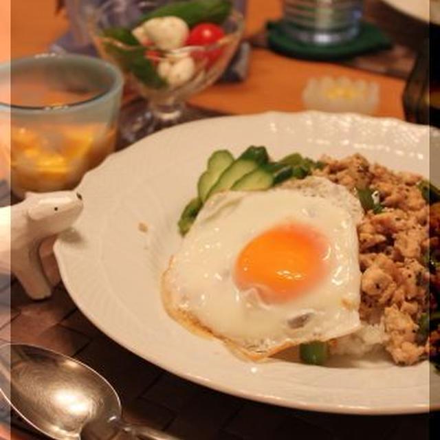 タイ風ひき肉ご飯(簡単ガパオライス)♪