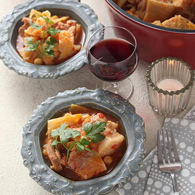「しみこみシェフで豚ばら肉とひよこ豆のトマト煮込み」「丸亀製麺の鴨ねぎうどん」