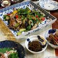 ◆醤油麹でゴーヤ入りのしぎ茄子のおうちごはん♪~ゆるやか糖質制限中♪ by fellowさん