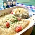 【ホワイトソースを豆腐でヘルシーに】タラのホワイト豆腐ソース焼き♡レシピ