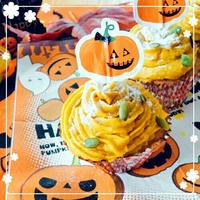 レシピ♡絶品かぼちゃクリームde簡単モンブラン♡ハロウィンに