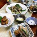 ◆タラ団子とナスの鯖缶ポンでおうちごはん♪~ゆるやか糖質制限中♪