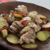 鶏肉とりんごとさつまいもの*はちみつ*スパイス煮