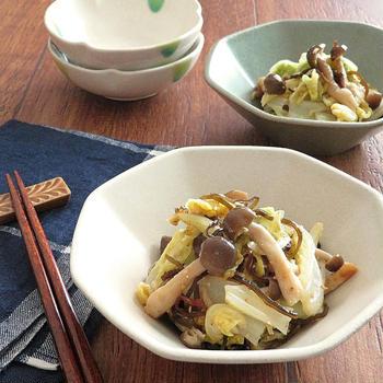 【#牡蠣だし醤油】レンジで簡単☆白菜としめじのゆず胡椒和え