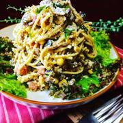 茄子がパスタに✳︎マヨ減量✳︎デリ風 茄子スパサラ