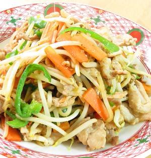 肉野菜の味噌オイスター炒め