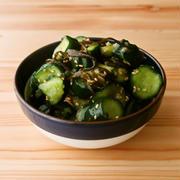 【野菜ひとつ】きゅうりの塩昆布梅和え